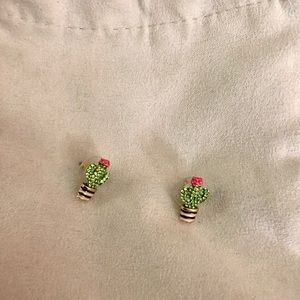 Kate Spade cactus stud earrings NWOT